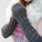 ►半指手套 韓國麻花針織毛線長手套 非主流螺紋【B7037】