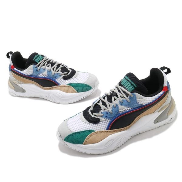 Puma 休閒鞋 RS-2K The Hundreds 白 彩色 男鞋 老爹鞋 麂皮 異材質拼接 【ACS】 37372401