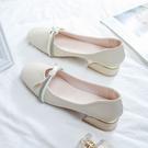 熱賣低跟鞋女鞋春季2021新款溫柔單鞋中跟瑪麗珍鞋春秋夏款仙女百搭低跟 【618 狂歡】