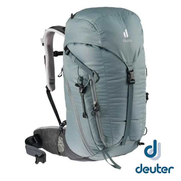 【德國 deuter】TRAIL 輕量拔熱 透氣背包28SL『深灰/黑』3440421 旅遊.戶外.後背包.手提包.雙肩背包