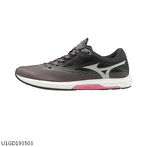 MIZUNO WAVE SONIC 2 [U1GD193503] 女鞋 運動 慢跑 馬拉松 休閒 輕量 避震 耐磨 黑灰