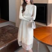 長袖針織連身裙女裝冬季2020年冬裙新款氣質內搭的裙子3197-T550-B-胖丫