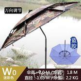 釣魚傘萬向防雨防曬紫外線釣垂黑膠遮陽加固釣魚傘igo時光之旅