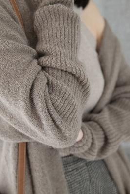 歐美衛冬新款羊絨大衣女中長款寬鬆毛衣外套針織開衫加厚外搭 艾瑞斯