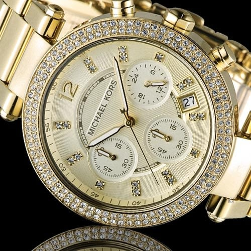 Michael Kors 美式璀璨晶鑽計時腕錶 MK5354