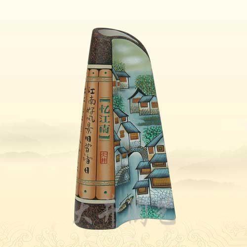 陶藝禮物陶瓷工藝品空間A*憶江南花瓶裝飾品擺件