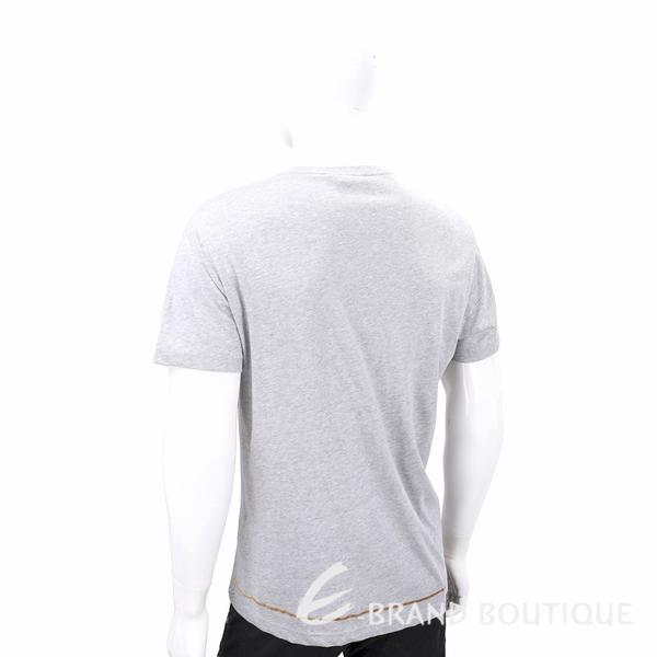 VERSACE 巴洛克印花灰色棉質T恤 1920355-06