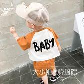 男童夏裝2018新款套裝童裝0-3歲1寶寶洋氣衣服嬰兒帥氣兩件套潮-大小姐韓風館