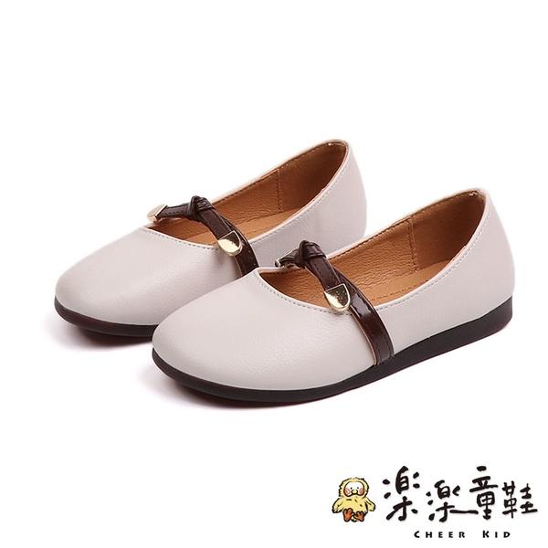 【樂樂童鞋】素色百搭公主皮鞋 S767 - 中童 豆豆鞋 皮鞋 男童 氣質 小童 學生鞋 娃娃鞋 女童 包鞋