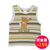 【愛的世界】純棉細橫紋背心/2~8歲-台灣製- ★春夏上著