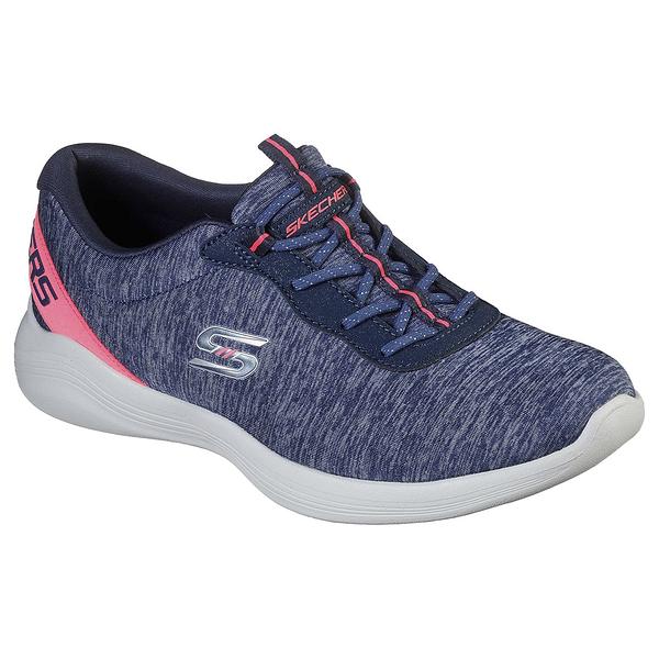 SKECHERS系列-ENVY系列女款藍灰色針織休閒鞋-NO.104051NVPK