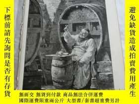 二手書博民逛書店【罕見】1883年木刻版畫《來一杯》(Hell wie Bold