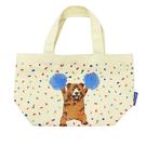 棕熊款【日本進口正版】Pokefasu x Plust 帆布 手提袋 便當袋 提袋 千葉純一 - 162012