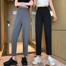 九分褲 寬鬆垂感九分褲夏季薄款褲子高腰休閒褲顯瘦直筒西裝褲女-Ballet朵朵