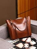 托特包 單肩大包包女2021夏季新款潮時尚大容量手提包簡約大氣斜挎包真皮