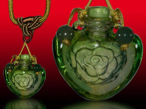 鹿港窯~開運琉璃項鍊~香精、香水瓶~玫瑰 附精美包裝◆免運費送到家