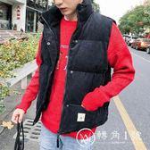 馬甲男秋冬季青少年韓版潮流燈芯絨馬夾加厚保暖男士帥氣背心外套