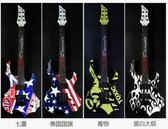 火焰電吉他 夜魇 煉獄火焰指板 異形 吉他套裝(單搖 彩繪版) -炫彩腳丫折扣店