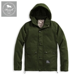 【Roush】 軍事工裝鋪棉連帽大衣外套2.0 -【915678】