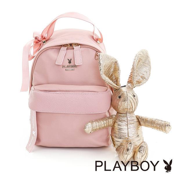 PLAYBOY- 2WAY小後背包 Gift 獻禮系列-芭蕾粉