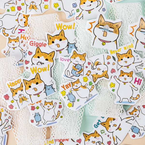 【BlueCat】Agree胖橘日常番盒裝貼紙 手帳貼紙 (45入)