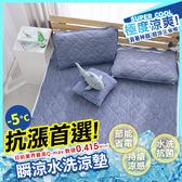 涼感 -5度C/雙人保潔墊/瞬涼可洗抗菌 SUPERCOOL接觸涼感[鴻宇]