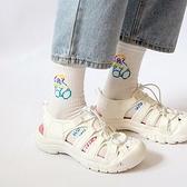搖搖鞋 2021夏季新款運動涼鞋女大頭洞洞鞋沙灘鞋女厚底可愛搖搖底羅馬鞋  美物 99免運