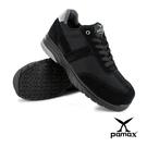 PAMAX 帕瑪斯-運動休閒風-頂級超彈力氣墊止滑安全鞋-反毛牛皮+透氣網布-PS13510FEH