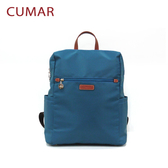 【CUMAR女包】輕量防潑水尼龍大方後背包-藍綠