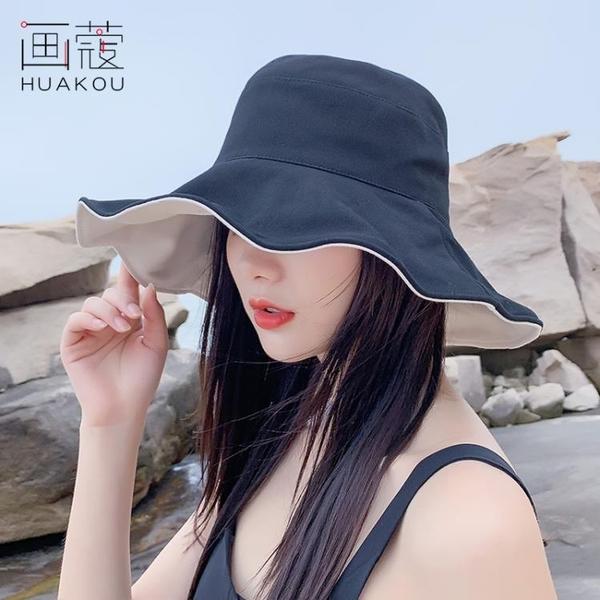 漁夫帽女士遮臉夏季薄款雙面防曬紫外線遮陽帽太陽帽子韓版潮百搭【快速出貨】
