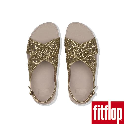 【FitFlop】LULU WICKER WEAVE BACK-STRAP SANDALS(黃金色)限時回饋6折