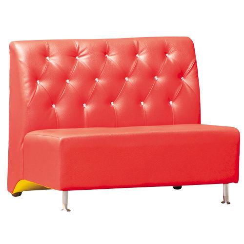 【時尚屋】[V]金星3.4尺二人座亮紅沙發309-34免組裝/免運費/台灣製