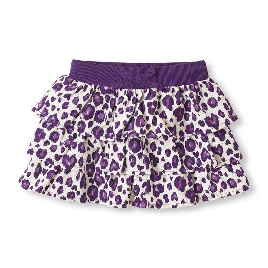 Place短裙   紫色豹紋蛋糕裙設計白色短裙