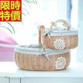 野餐籃(小)-日式蕾絲田園風郊遊用品68e2[時尚巴黎]