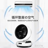 空氣循環扇羿彩小型電風扇渦輪對流換氣靜音搖頭桌面風扇台式家用 220V NMS陽光好物