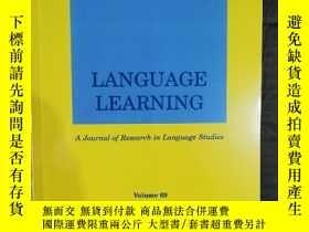 二手書博民逛書店language罕見learning 2019年6月英文版Y42402