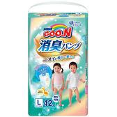 GOO.N 大王-日本境內版 消臭香香褲L42片/包 大樹