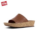 【FitFlop】BALI SLIDE SANDALS全皮革編織款涼鞋(焦糖色)
