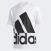 Adidas 男款白色大LOGO短袖上衣-NO.GK3328