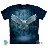 【摩達客】(預購)美國進口The Mountain 喚之貓頭鷹 純棉環保短袖T恤(YTM104174893097)