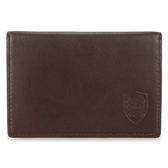 DAKS 家徽LOGO軟皮革名片夾證件夾信用卡夾(咖啡色)230174-02