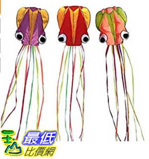 [106美國暢銷兒童軟體] Hengda Kite-Pack 3 Colors Beautiful Large Easy Flyer Kite for Kids-software