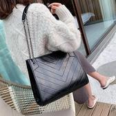 托特包-北包包洋氣女包2020新款潮韓版百搭質感斜揹包錬條單肩時尚托特包
