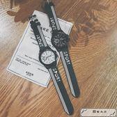 韓國原宿bf風韓版簡約休閑男女情侶手表中學生青少年潮流