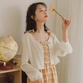 冰絲防曬衣女薄長袖夏季仙女雪紡衫超仙甜美上衣配吊帶裙的小披肩