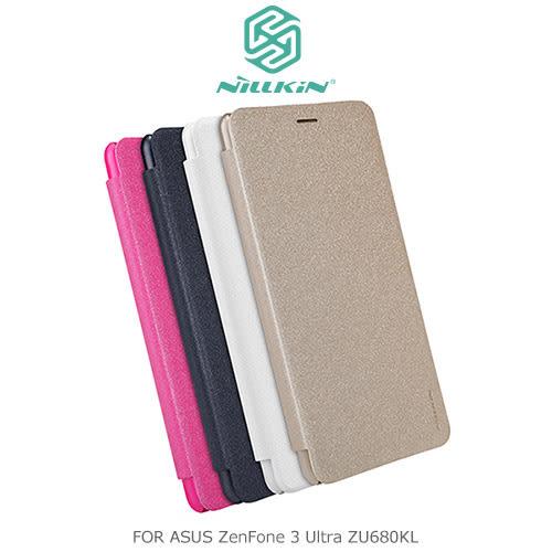 摩比小兔~ NILLKIN ASUS ZenFone 3 Ultra ZU680KL 星音勻皮套 側翻皮套 保護套