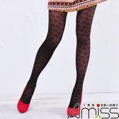 Amiss【A133-72】流行花紋褲襪☘幸運草