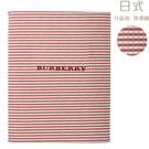 BURBERRY經典格紋雙人床單床包(紅色)084227-2