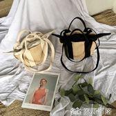 女包 編織包正韓田園風草編包藤編包竹籃包側背包手提包女士包袋 原野部落