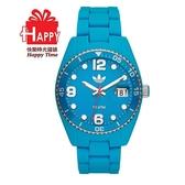 Adidas 台灣授權代理公司貨 出清7折 街頭多彩格紋矽膠腕錶 ADH6163 藍色